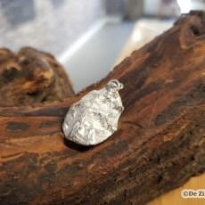 Zilveren oester-schelphanger