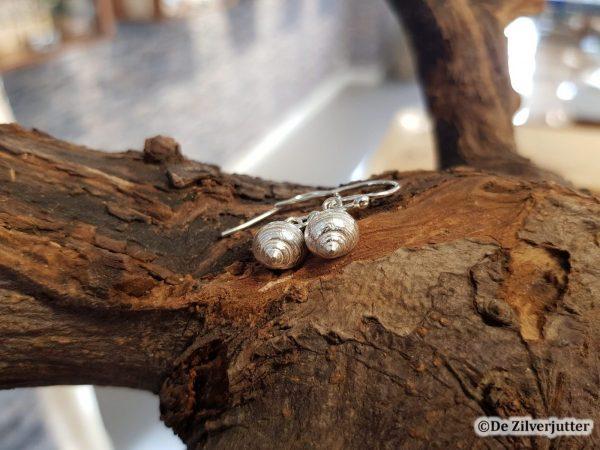 Zilveren oorhangers alikruik