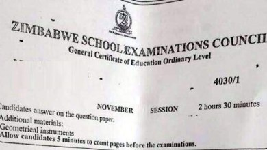Photo of ZIMSEC June exams cancelled, all candidates to write in November
