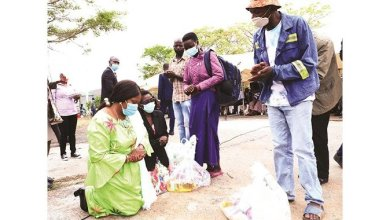 Photo of First Lady consoles, feeds families of trapped Bindura miners