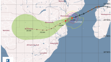 Photo of Cyclone Eloise loses strength, but carries heavy rains