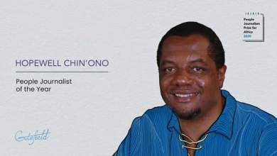 Photo of Hopewell Chin'ono named Africa Journalist of the Year 2020