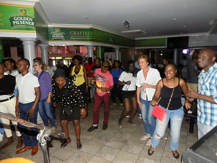 Audience enjoying dancing to Mbira grooves PIC: COURTESY OF HOPE