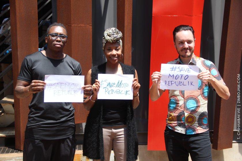 Outspoken, Locnation and Cde. Fasto spearhead the #SaveMotoRepublik campaign PIC: T. CHIMAMBAKWE   ZIMBOJAM.COM