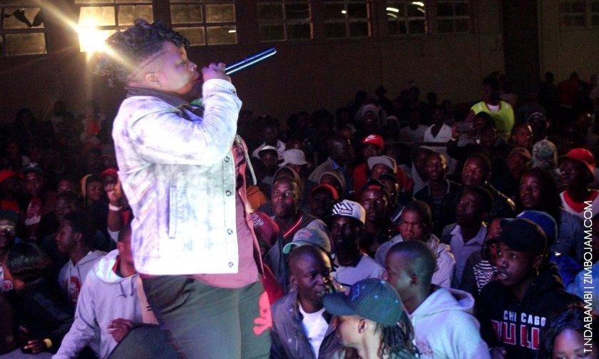 Kadijah performing at the Turbulence show PIC: T. NDABAMBI | ZIMBOJAM.COM