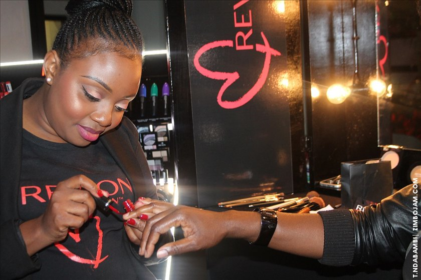 Some of the ladies get some makeovers at the launch event. PIC: T. NDABAMBI | ZIMBOJAM.COM