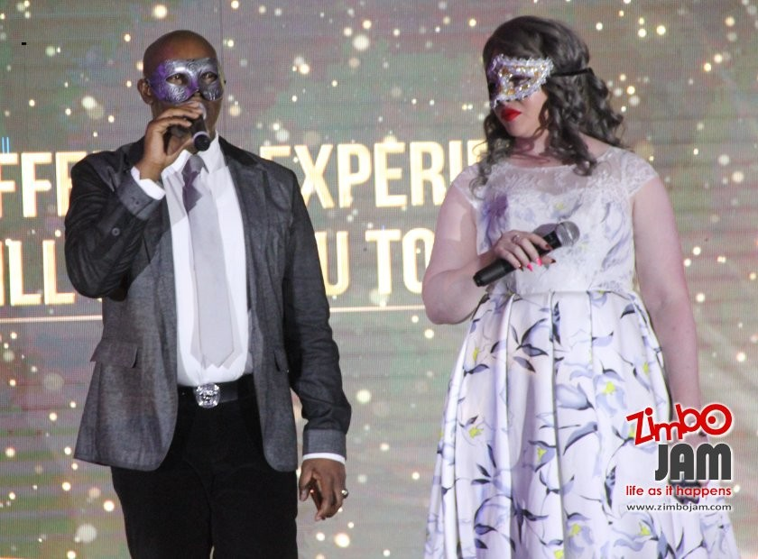 Tich Mataz and Candice, the event hosts.