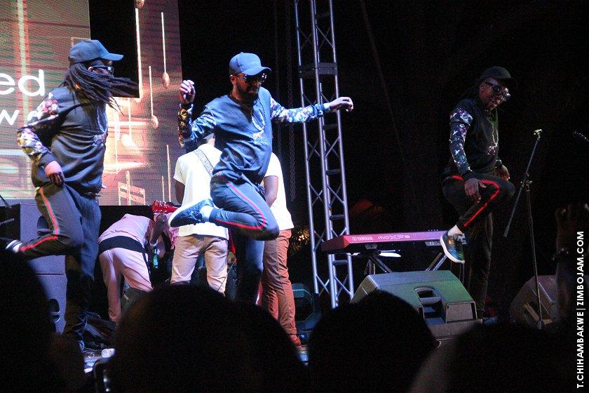 ExQ's dancers serenading fans. PIC: T. CHIHAMBAKWE | ZIMBOJAM.COM
