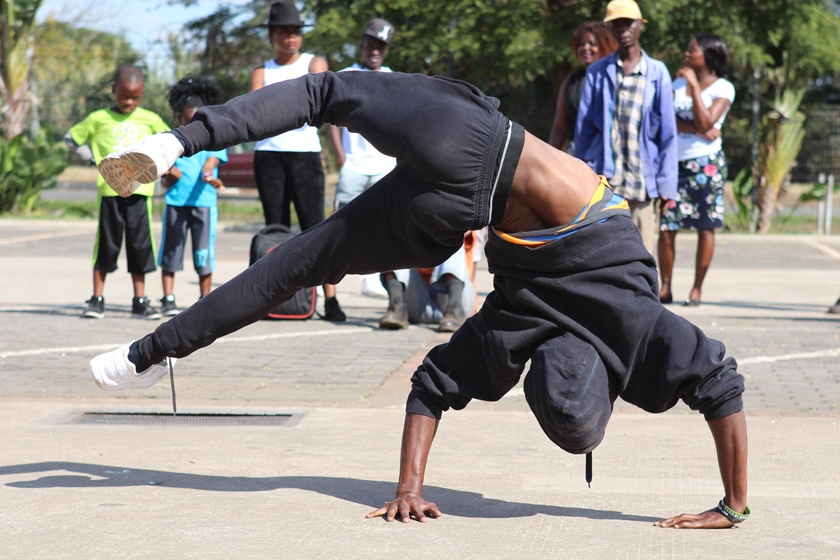 Dancer showing off his skills PIC: COURTESY OF JIBILIKA