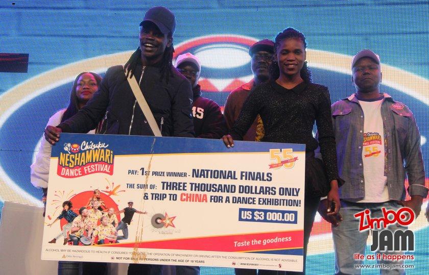 Peter Lenso and Ndineyi Alfazima, winners in the contemporary dance category. PIC: T. CHIHAMBAKWE | ZIMBOJAM.COM