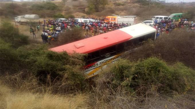 Passengers injured in Tombs bus accident