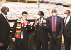 Ship with returnees docks in Namibia .