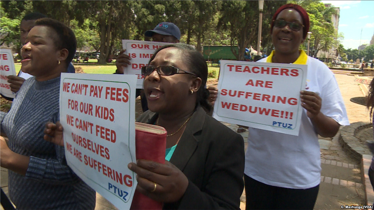 Why are Zimbabwe's teachers using an uneducated approach to an issue that requires educated people like them?