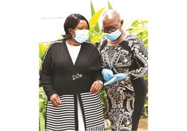 First Lady meets Mai Mujuru