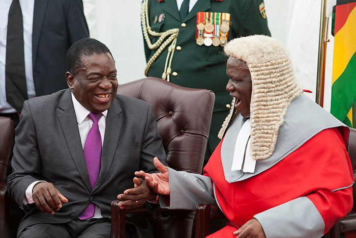 Mnangagwa extends Chief Justice Luke Malaba's term of office by 5 years