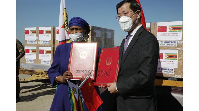 China donates more vaccines to Zimbabwe