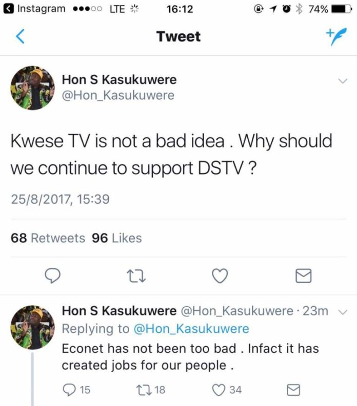 MINISTER DEFENDS KWESE, WHY SHOULD WE SUPPORT DSTV?