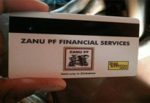 INTRODUCING THE ZANU PF DEBIT CARD