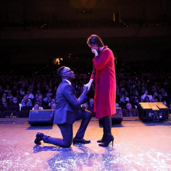 LOVE IS IN THE AIR! MUSIC STAR BRIAN NHIRA PROPOSES ON STAGE