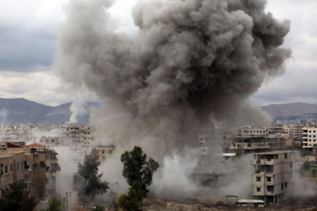 MORE BOMBS FALL ON SYRIA'S EASTERN GHOUTA