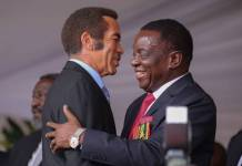 ED, KHAMA MEND FENCES FOLLOWING FROSTY ZIM-BOTS RELATIONS