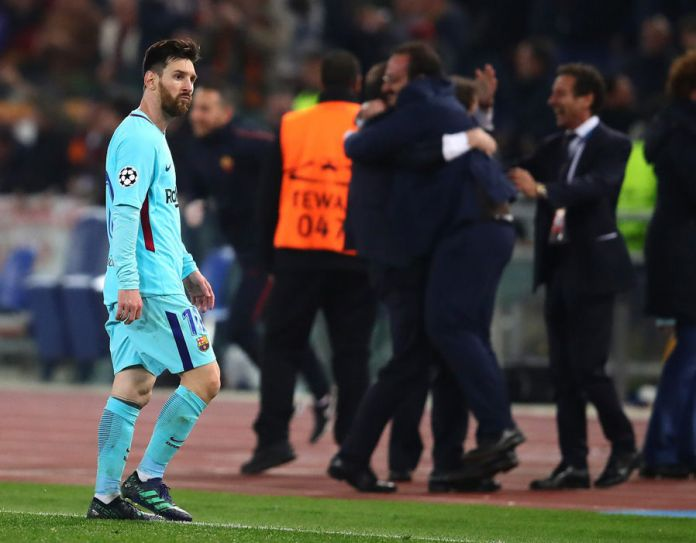 BARCA, CITY DUMPED OUT OF CHAMPIONS LEAGUE