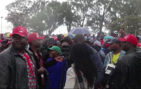 Chamisa Saves ZBC Crew From Rowdy Party Members