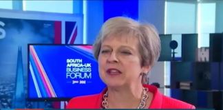 Watch Theresa May Talk about South Africa, Endorses Mnangagwa