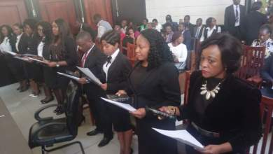 Photo of 57 Magistrates Sworn Into Office In Harare