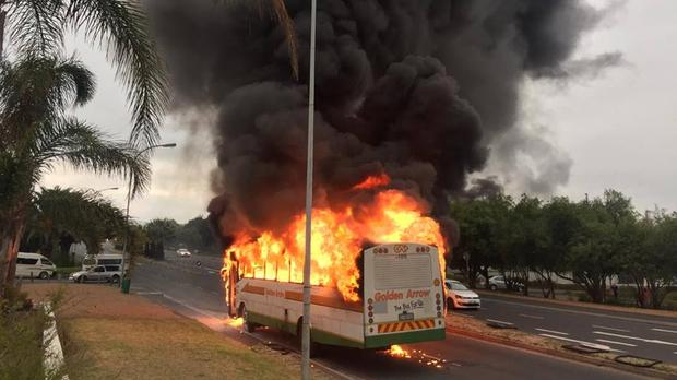 5 Injured As Golden Arrow Bus From Harare Catches Fire In South Africa