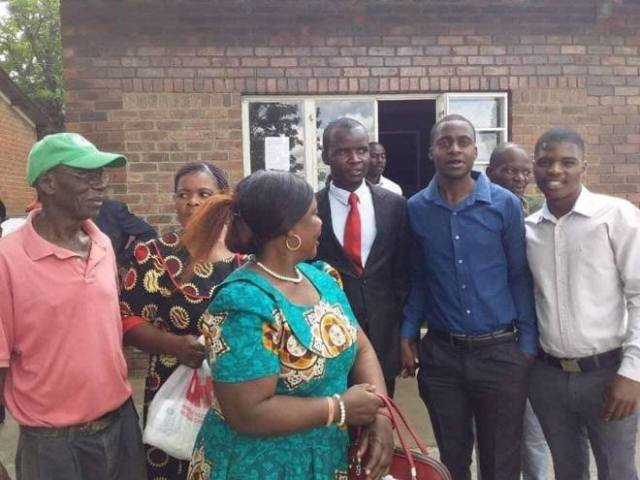 New Chitungwiza Mayor in red tie