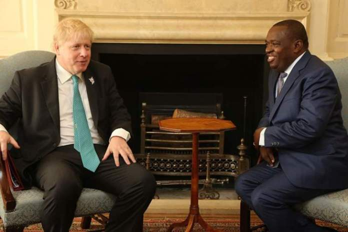 SB Moyo and Boris Johnson