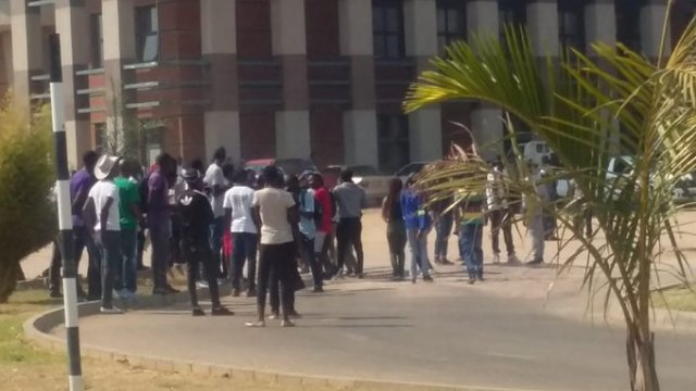 20 NUST Students Arrested For Protesting Lecturers' No Show