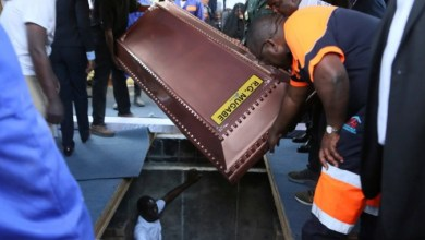 Photo of Mugabe buried in steel coffin encased in concrete
