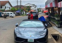 Lamborghini stolen in Switzerland found in Ghana with Nigerian plate