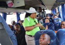 Mnangagwa's Wife Chases Over speeding ZUPCO Bus On The Highway