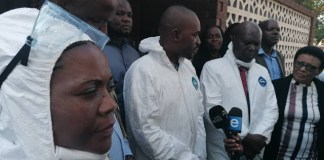 """""""This is not MDC or Zanu PF, this is Zimbabwe"""": Chamisa's remarks after visiting Wilkins Hospital"""