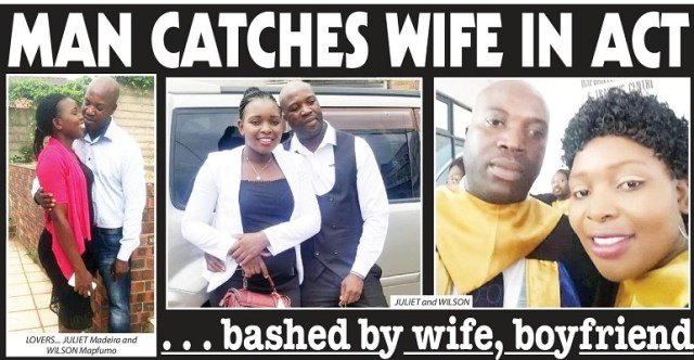 Man Catches Wife In Act...Bashed by Wife, Boyfriend