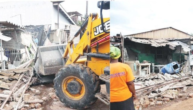Whats Going On? City Of Harare Demolishes Licensed Shop!