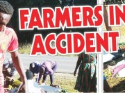 Farmers In Accident! Motorists buy vegetables at scene
