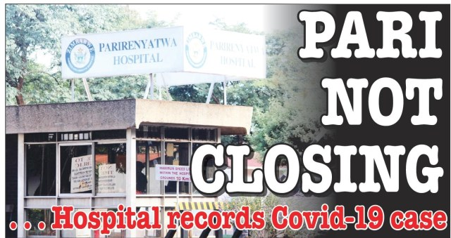 Parirenyatwa Hospital Records First Coronavirus COVID-19 Case