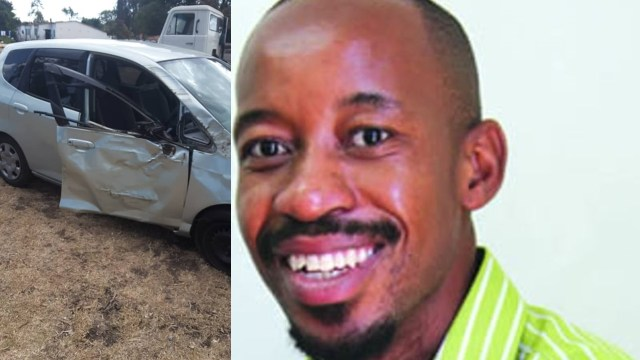 Journalist squashed between tree and car during scuffle with a woman