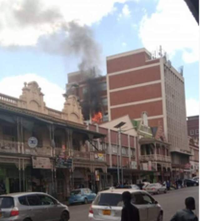 Military intelligence building gutted by fire in Harare