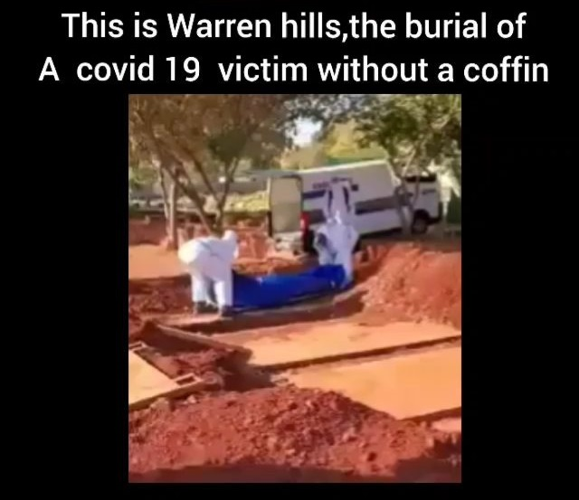 This is how COVID-19 death victims being buried like in Zim - Video