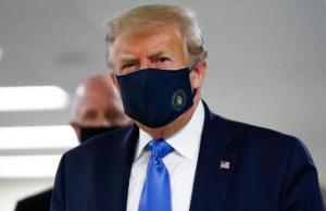 A First For Trump, Wears Mask In The Public As COVID-19 Cases Surge