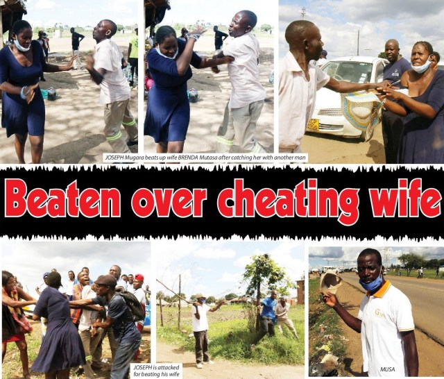 Man beaten after Catching Wife with another man!