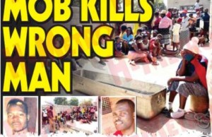 MOB KILLS WRONG MAN'…They mistook him for thief'
