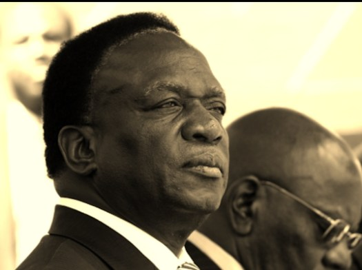 Then later this was - 1987 at the end of the Gukurahundi massacres. Mnangagwa doesn't look happy that the killing is over, as it were.