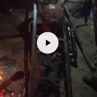 LEAKED WHATSAPP VIDEO OF CIOs TORTURING A MAN AT A MINE.