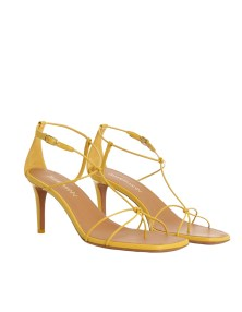 strappy sandals - one of this summer's biggest shoe trends. Here's a zimmerman stappy sandal in mustard yellow.